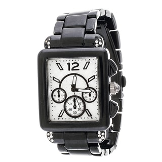 Xtreme Boyfriend Women's Black Square Case and Strap Watch
