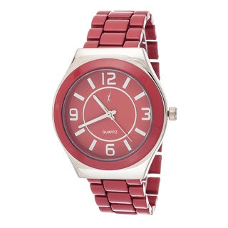 Xtreme Boyfriend Women's Silver Case / Red Strap Watch