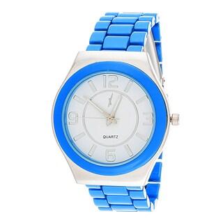 Xtreme Boyfriend Women's Silver Case / Light Blue Strap Watch