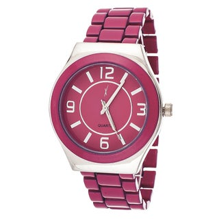 Xtreme Boyfriend Women's Silver Case / Pink Strap Watch