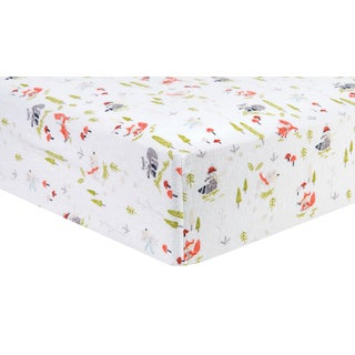Trend Lab Winter Woods Deluxe Flannel Fitted Crib Sheet