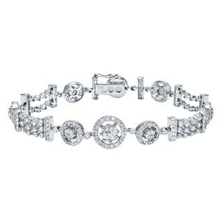 Auriya 14k White Gold 4ct TDW Round Diamond Tennis Bracelet