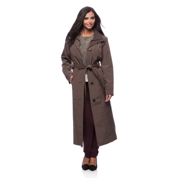 London Fog Missy Long Rain Bib Coat