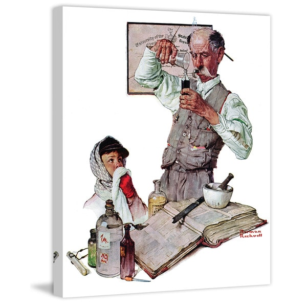 Marmont Hill Pharmacist By Norman Rockwell Painting Print On Canvas Multi