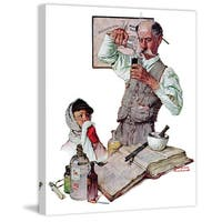 """Marmont Hill - """"Pharmacist"""" by Norman Rockwell Painting Print on Canvas - Multi-color"""