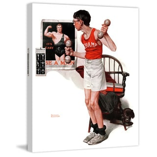 """Marmont Hill - """"Champ"""" by Norman Rockwell Painting Print on Canvas"""