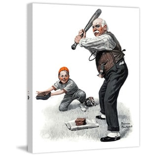 """Marmont Hill - """"Gramps at the Plate"""" by Norman Rockwell Painting Print on Canvas"""