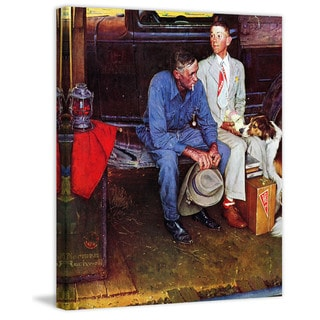 "Marmont Hill - ""Breaking Home Ties"" by Norman Rockwell Painting Print on Canvas"
