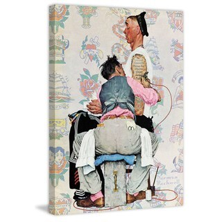 """Marmont Hill - """"Tattoo Artist"""" by Norman Rockwell Painting Print on Canvas"""