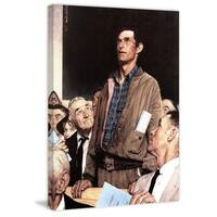 "Marmont Hill - ""Freedom Of Speech"" by Norman Rockwell Painting Print on Canvas - Multi-color"
