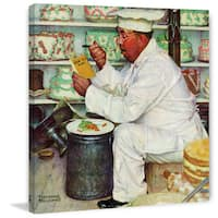 """Marmont Hill - """"How to Diet"""" by Norman Rockwell Painting Print on Canvas - Multi-color"""