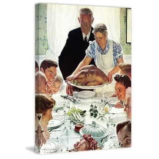 "Marmont Hill - ""Freedom From Want"" by Norman Rockwell Painting Print on Canvas"