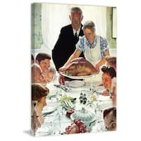 """Marmont Hill - """"Freedom From Want"""" by Norman Rockwell Painting Print on Canvas"""