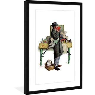 Norman Rockwell 'Bookworm' Marmont Hill Framed Art Print