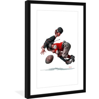 Norman Rockwell 'Fumble' Marmont Hill Framed Art Print
