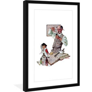 Norman Rockwell 'Pharmacist' Marmont Hill Framed Art Print