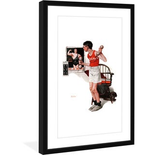 Norman Rockwell 'Champ' Marmont Hill Framed Art Print