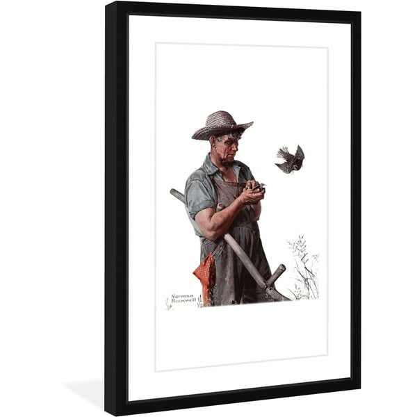 Marmont Hill - Handmade Farmer and the Bird Framed Art Print