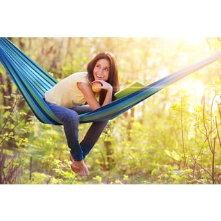 Canvas Striped Outdoor Hammock