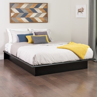 Broadway Black Double/ Full Platform Bed
