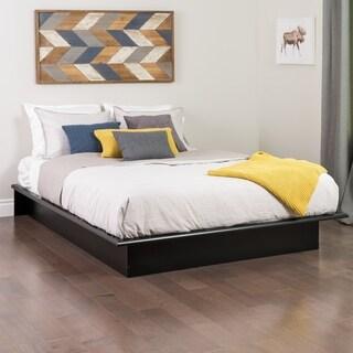 broadway black queen platform bed