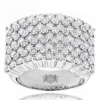 Luxurman 14k Gold Men S 3 1 2ct TDW Diamond Ring H I VS1 VS2