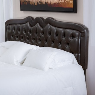 Christopher Knight Home Selby Adjustable Brown Bonded Leather Headboard