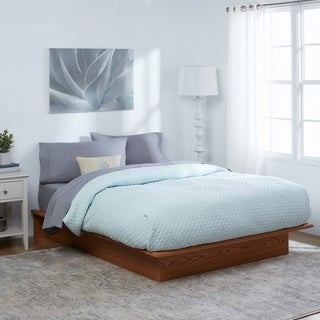 Full-sized Oak Wood Platform Bed