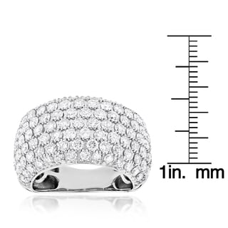 Luxurman 14k White Gold 4ct TDW Diamond Statement Ring (G-H, VS1-VS2)