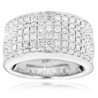 Luxurman 14k Gold Women's 2ct TDW Diamond Wide Wedding Band|https://ak1.ostkcdn.com/images/products/10367492/P17474510.jpg?impolicy=medium