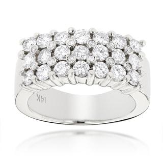 Luxurman 14k Gold Men's 1 1/2ct TDW Diamond Ring (G-H, VS1-VS2)
