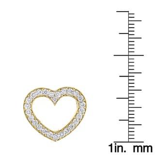 Luxurman 14k Gold 1 3/8ct TDW Round Diamond 'Floating Heart' Pendant (G-H, VS1-VS2)
