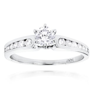 Luxurman 14k Gold 4/5ct TDW Diamond Designer Promise Ring (H-I, SI1-SI2)