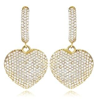 Luxurman 14k Gold 2ct TDW Diamond Dangle Heart Earrings https://ak1.ostkcdn.com/images/products/10367536/P17474553.jpg?impolicy=medium
