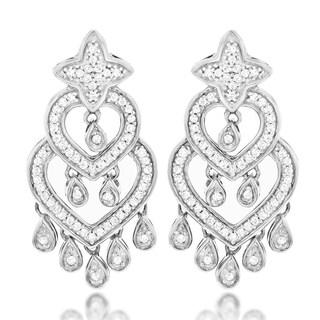 Luxurman 14k Gold 2/5ct TDW Diamond Chandelier Earrings (G-H, SI1-SI2)
