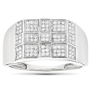 Luxurman 10k Gold Men's 1/3ct TDW Diamond Ring (H-I, SI1-SI2)|https://ak1.ostkcdn.com/images/products/10367541/P17474557.jpg?impolicy=medium