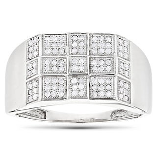Luxurman 10k Gold Men's 1/3ct TDW Diamond Ring (H-I, SI1-SI2)