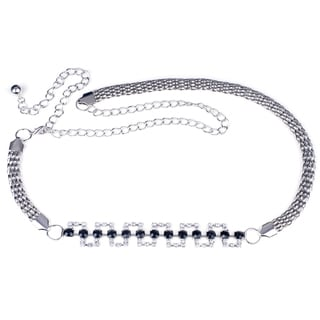 J. Furmani Rhinestone Chain Belt