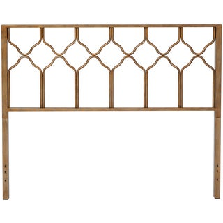 Honeycomb Deluxe Brusehd Gold Headboard