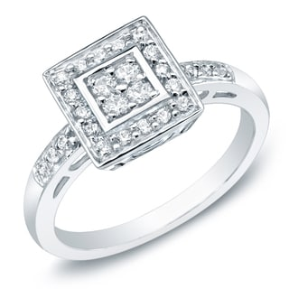 Auriya 10k Gold 1/3ct TDW Diamond Engagement Ring