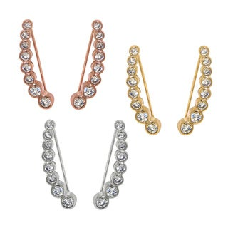 Eternally Haute Goldplated Pave Bezel-set Cubic Zirconia Ear Climbers