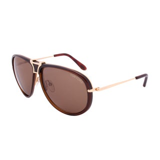 Tom Ford Robbie Sunglasses TF286 52A, Brown and Navy Blue Frames, Brown and Blue Lenses