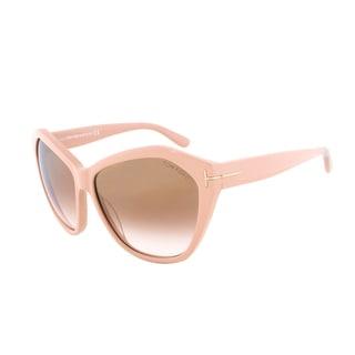 Tom Ford Angelina Sunglasses TF 317 72L, Blush Frame, Brown Gradient Lens