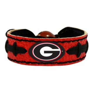 Georgia Bulldogs Team Color NCAA Football Bracelet