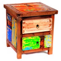 Go Fish Reclaimed Wood Side Table