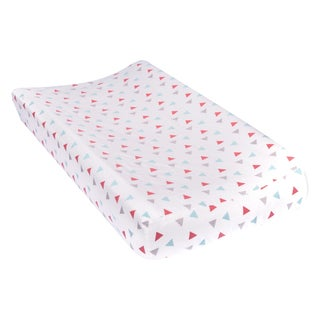 Trend Lab Coral Triangles Deluxe Flannel Changing Pad Cover