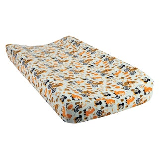 Trend Lab Let's Go Deluxe Flannel Changing Pad Cover