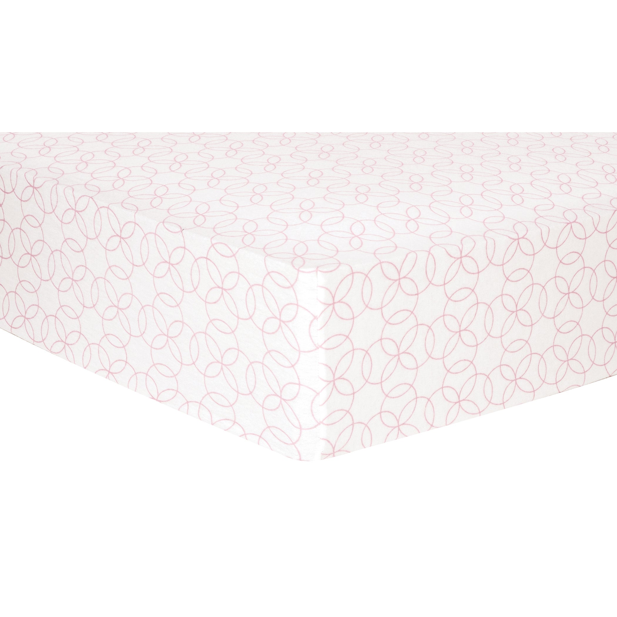 Trend Lab Pink Circles Deluxe Flannel Fitted Crib Sheet (...