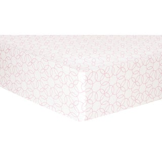 Trend Lab Pink Circles Deluxe Flannel Fitted Crib Sheet