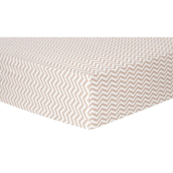 Shop Trend Lab Doe Chevron Deluxe Flannel Fitted Crib
